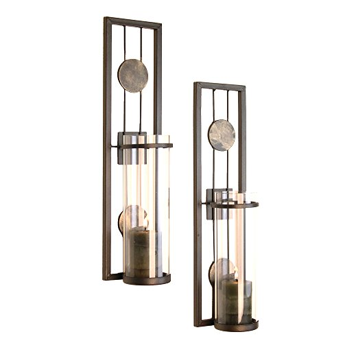 Contemporary Metal Wall Sconce Set product image
