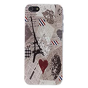 LZX Exquisite Eiffel Tower Pattern Embossed Hard Case for iPhone 5/5S