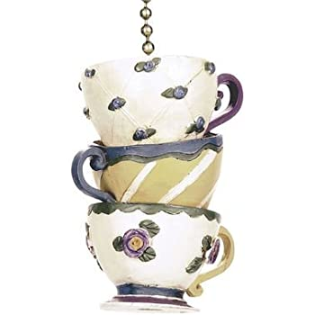 Stacked Teacups Coffee Cups Ceiling Fan Pull chain