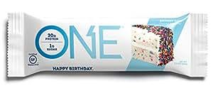 ONE Protein Bar, Birthday Cake, 21g Protein, 1g Sugar, 12-Pack