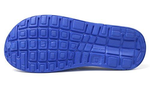 Mujeres Hacia Sandalias Ahueca Zapatos Respirable Hombres Oscuro Las Fuera Zapatillas Azul Playa De Eagsouni Zuecos Unisex fB8HOH