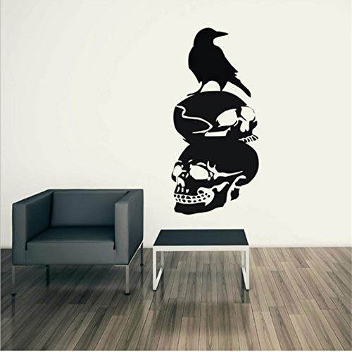 wbdfcb Halloween Raven Background Wall Sticker Window Home Decor Applique Decoration New 30 -