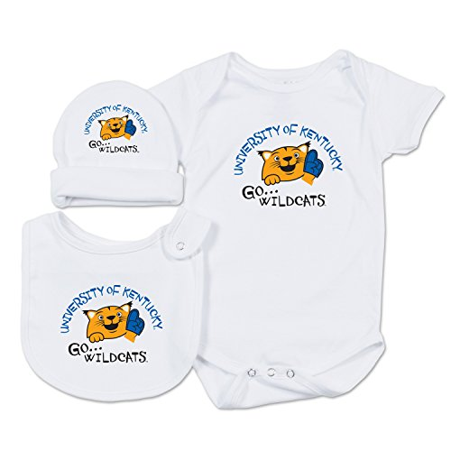 College Kids NCAA Kentucky Wildcats Baby Essential Set, 12 Months, White ()