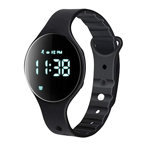 - iGANK Fitness Tracker Watch, T6A Non-Bluetooth Smart Bracelet Walking Pedometer Watch Step Counter/Calorie Burned/Distance/Alarm/Stopwatch for Kids Men Women