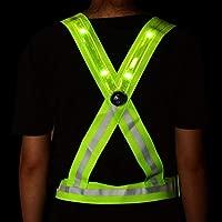 LED Reflectante Chaleco de Alta Visibilidad Chaleco de ...