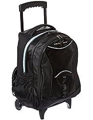 Traveler's Choice Luggage Pacific Gear Lightweight Wheeled Backpack, Black, Regular