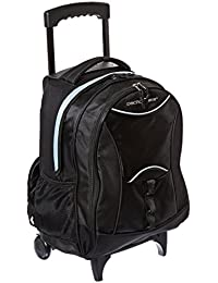 Traveler's Choice Luggage Pacific Gear Lightweight Wheeled Backpack, Black, Regular