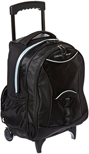Traveler's Choice Pacific Gear Lightweight Wheeled Backpack, Black (Small Wheeled Backpack)
