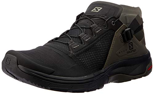(Salomon Men's Techamphibian 4 Walking Shoe, Black/Beluga/Castor Gray, 10 Regular US)
