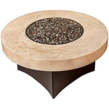 Amazon.com: Oriflamme Gas Fire Pit Table Tuscan Stone. The ...