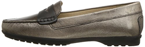 Geox Women's Elidia 5 Slip-on Loafer, Champagne/Anthracite, 35 EU/5 M US by Geox (Image #5)