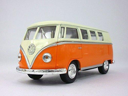 (Volkswagen - VW T1 (Type 2) Bus 1/32 Scale Diecast & Plastic Model - ORANGE by Kinsmart)