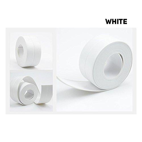 Self Adhesive Repair Tape, PVC Waterproof Anti-Moisture Matte Finish Tape, Wall Caulk Corner Trimmer Strip (3.8cm x 320 cm) White ()