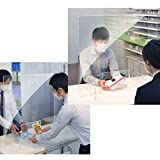 TT-ONE Clear Perfection Reception Side Sale Counter Sprayed UV Cut Transparent Height Contact Protective Plexiglass Shield Guard for Counters Reception Protection Barrier for Office 4042CM