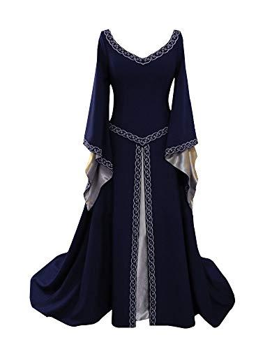 Abito Boho Lungo Medievale Cosplay Donna Marina Costume Vestito Liangzhu Retro Partito n4EYSqUw