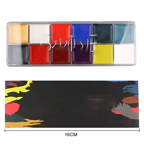 Tattoo Face Palette Body Paint Make Up Oil Painting Art Halloween Party Fancy Waterproof Beauty Makeup Gift Eyeshadow Kit ()