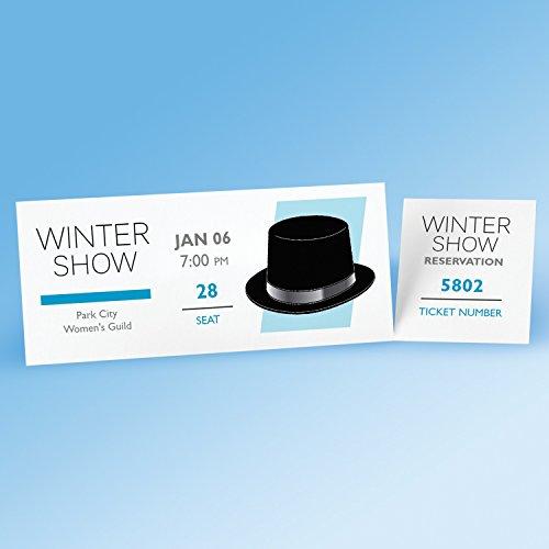 avery blank printable tickets  tear