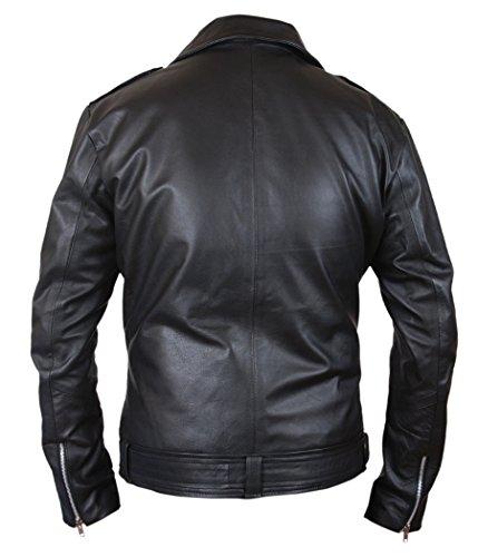 Black Jacket Genuine Walking amp;h Negan F The Leather Dead Men's GLMpSjUVzq