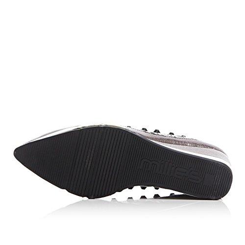 AdeeSu Womens Fashion Grommets No-Closure Platform Leather Loafers Shoes SDC05303