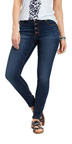 maurices Denimflex High Rise Jegging - Women's Button Fly Pants Dark Sandblast from maurices