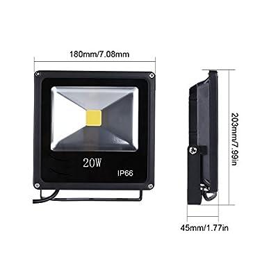 20 Watt Outdoor LED Flood Light, Adjustable, Replaces Standard 125 Watt Incandescent, 1800 Lumen,5000K, LED Lighthouse, 1-Pack