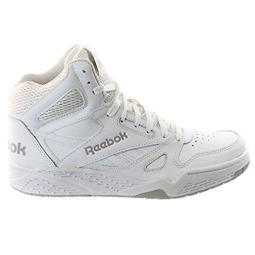 Reebok Men's Royal Bb4500 Hi Fashion Sneaker, White/Steel, 11.5 M US