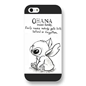 UniqueBox Customized Black Frosted Lilo and Stitch iPhone 5 5s case