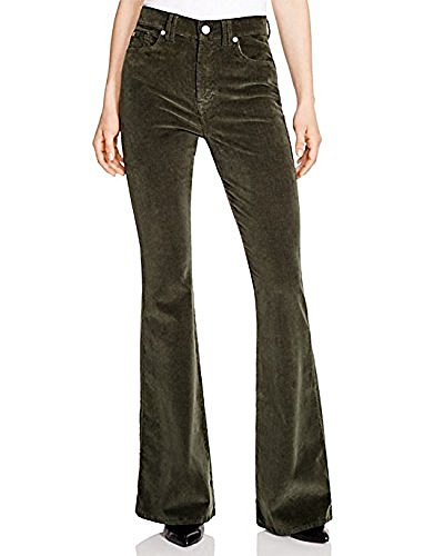 7 For All Mankind High Waist Flare Corduroy Jeans Forest Green Size (Forest Green Corduroy)