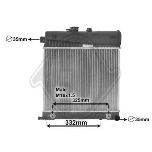 Diederichs DCM2345 Radiator, radiator: