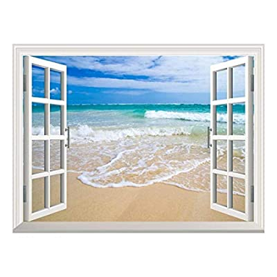 Removable Wall Sticker Wall Mural Beautiful Blue Caribbean...