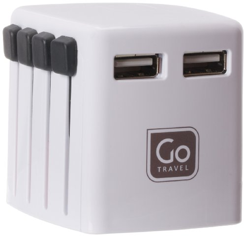 Design Go Go Travel Worldwide Twin USB Charger, - Pack Usb Twin