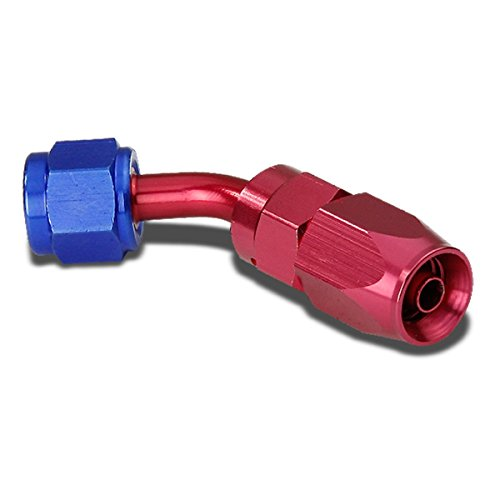 4AN 90-Degree Swivel Fuel Line Hose Flare Union Adapter With Reusable End