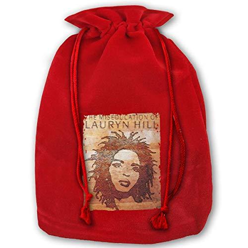 (Shanweiyihemaoyi The Miseducation of Lauryn Hill Christmas Drawstring Gift Bag Personalized Santa Sack for Holiday)