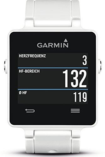 Garmin 010-01297-11 vívoactive Smartwatch 28.6mm Plastic White/Black Silicone
