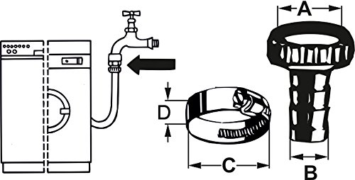 messing /Überwurf 1//2 Zoll TEC308101 Cornat Schlauchverschraubung 3//4 Zoll