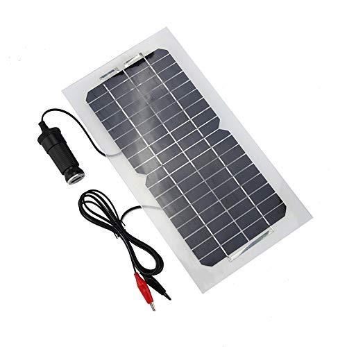 Panel solar - 18V 5.5W Panel de energía solar portátil 12V / 5V Cargador de batería, Dispositivo de suministro de...
