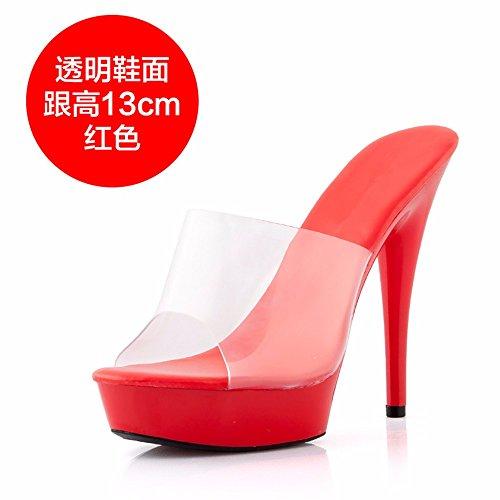 tacco scarpe pantofole partito alti Moda i sottile cool trasparente di FLYRCX tacchi estate RBIqxzzwg