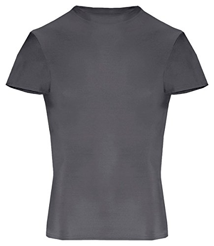 2621 Badger Youth Short-Sleeve Compression Tee - Graphite - Small -