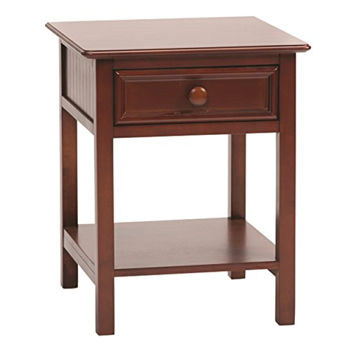 Bolton 8001600 Wakefield 1-Drawer Nightstand, Cherry by Bolton