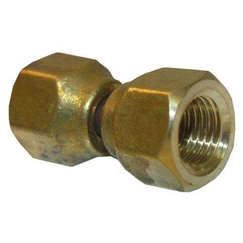 LASCO 17-5911 1/4-Inch Female Flare Swivel Brass Adapter