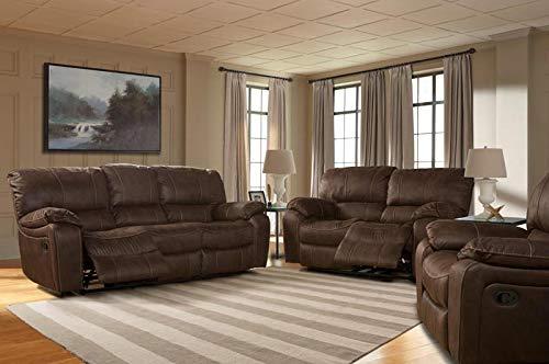 - Parker Living - Jupiter Dark Kahlua 3 Piece Dual Reclining Living Room Set - MJUP#832-DK-3SET