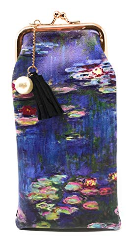 (Value Arts Monet Water Lilies Eyeglass Case Pouch, 7 Inches Long )