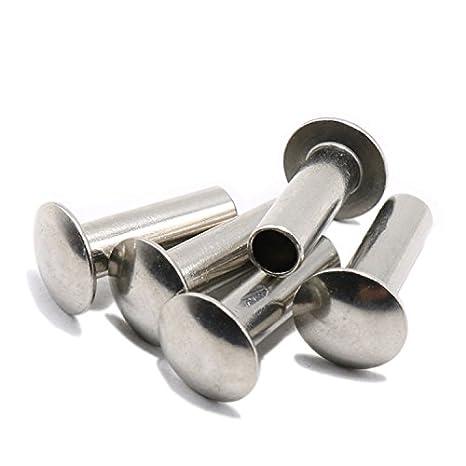 M5 x 7mm Truss Head Semi Tubular Rivet,Staniless Steel,Pack 50-piece