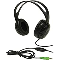 Andrea Electronics Edu-375 High Fidelity Circumaural Stereo Headphone w/ In-line Volume Control