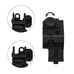Aukmont Plus Backup Iron Sights Tactical 45 Degree Offset Rapid Transition with Hexagon Wrench
