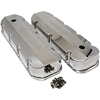 Amazon com: Tall Style finned Black Coated Valve Covers 396