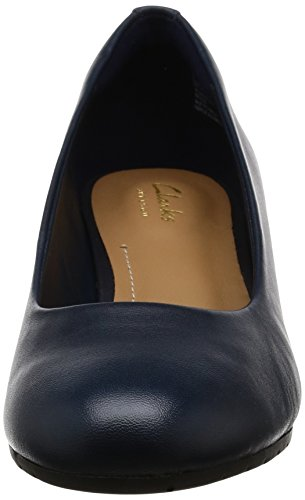 Bloom Vendra Azul Leather a Clarks con Mujer Cu para Sandalias Navy gF5Twdq8x