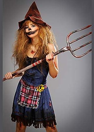 Magic Box Disfraz de espantapájaros Zombie Malvado de Mujer Large ...