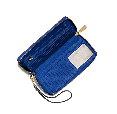 Michael Kors Jet Set Travel Leather Travel Continental Electric Blue