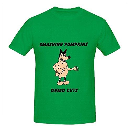 The Smashing Pumpkins Demo Cuts Funk Mens Crew Neck Cute Tee Green